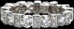eternity band set with white diamonds on 18k white gold