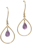 Chandelier amethyst earrings