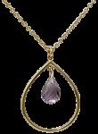 Chandelier amethyst pendant