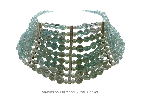 Commission- Diamond and Pearl Choker