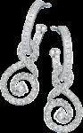 Diamond set hoops with detachable diamond set swirls
