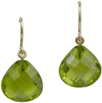 Peridot faceted drops on french wire