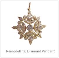Remodelling- Diamond Pendant