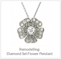 Remodelling- Diamond Set Flower Pendant