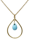 chandelier turquoise pendant