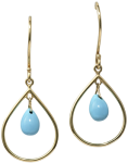 chendelier turquoise earrings
