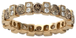 cognac and white diamond eternity band-1