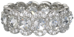 scalloped eternity band in diamonds set in 18k white gold