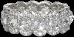 scalloped eternity band in diamonds set in 18k white gold