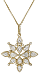 white sapphire and diamond pendant