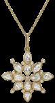 white sapphire and diamond pendant